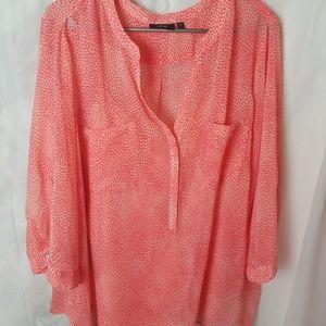 APT 9 pink sheer two-piece blouse set